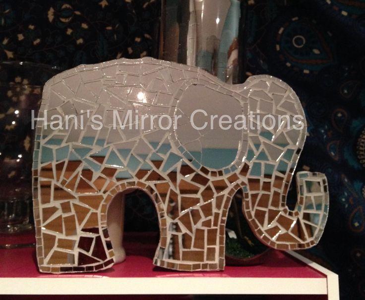 Mosaic Elephant https://www.facebook.com/HanisMirrorCreations