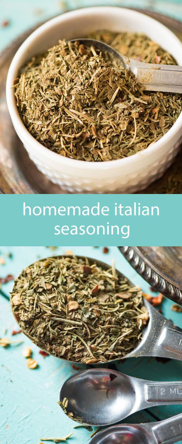 homemade italian seasoning / homemade spice mix / homemade seasoning recipe / bulk spice mix / italian food / parsley / marjoram / savory via @tastesoflizzyt