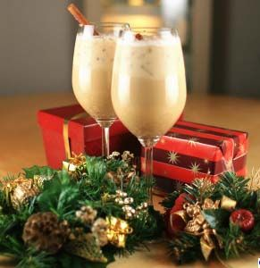 2 cups soymilk (original or vanilla flavor)  1/4 teaspoon cloves  1/4 teaspoon nutmeg  1/2 teaspoon cinnamon  2 1/2 teaspoons maple syrup    Directions:    Blend all ingredients together in a pitcher. Serve your delicious vegan eggnog over ice and dress with a sprinkle of nutmeg and a cinnamon stick for the perfect festive touch.
