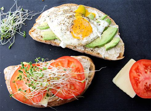 fried egg and avocado panini