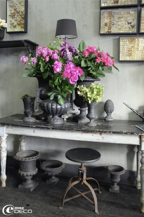 French GreyDecor, Paris, Shabby Chic, Flower Shops, Rue Magazines, Simple Style, Pink, Floral, French Grey