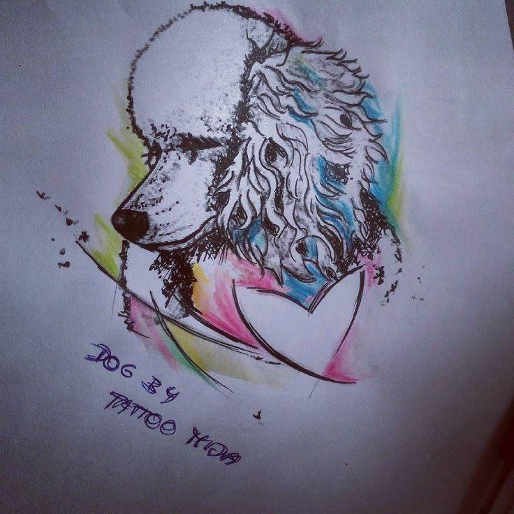 #dogtattoo #watercolortattoo by #tattoomija by tattoomija