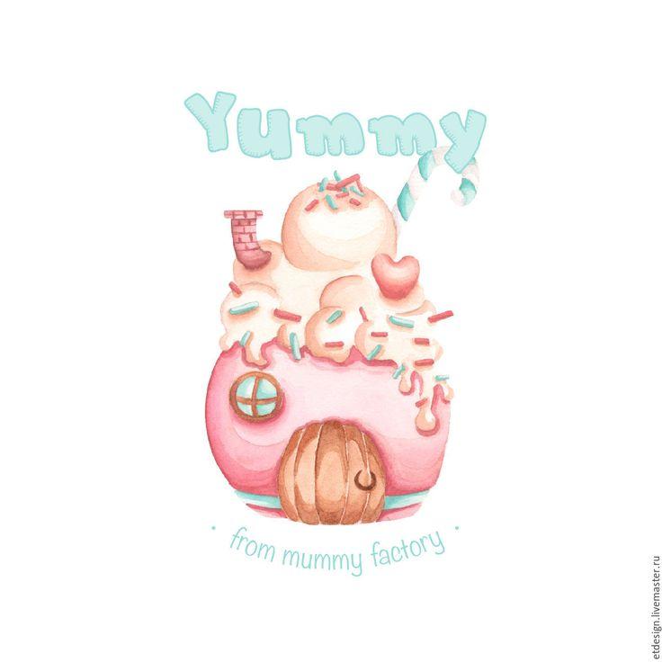 Купить Акварельный логотип - бледно-розовый, логотип, логотип на заказ, акварельный логотип, акварель