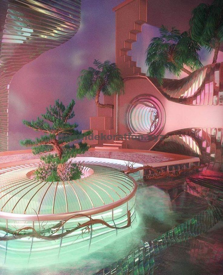 Architektur Ideen – verträumte Oase via Katie Blake 🌴💘 – #blakekathryn #innenraum #Oase #vert