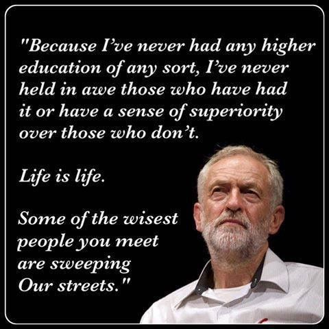 Jeremy Corbyn the only alternative to the establishment