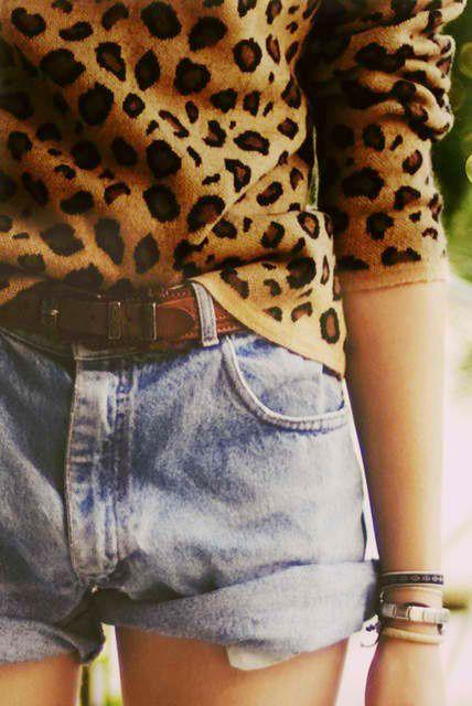 Traité en mode casual, l'imprimé léopard révèle son plein potentiel