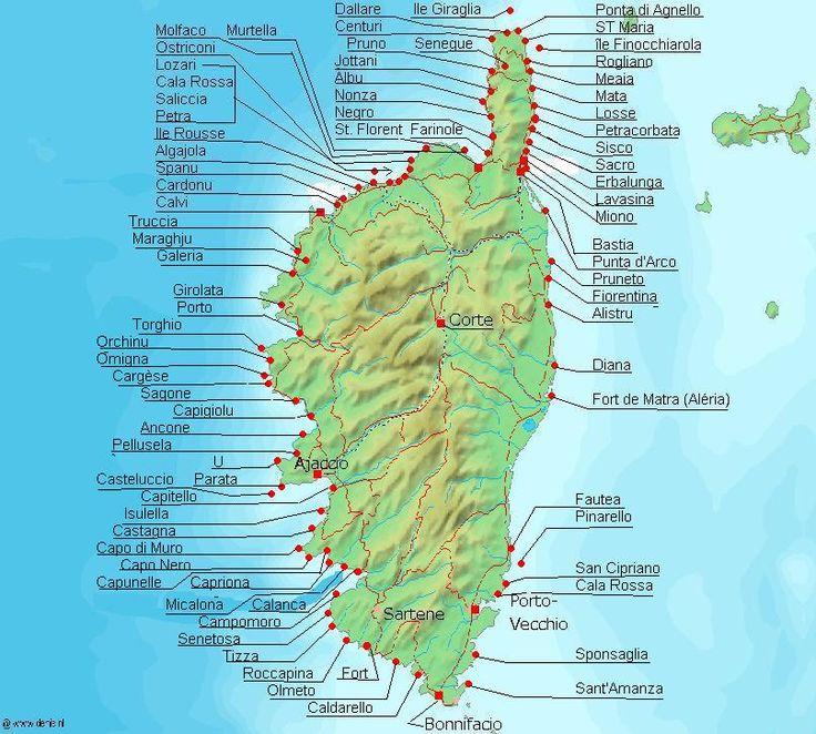 La Corse et ses villes
