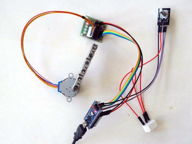 Arduino Nano and Visuino: Control Stepper Motor with Rotary Encoder #Arduino #Visuino