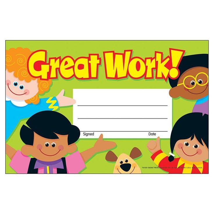AWARDS GREAT WORK 30/PK