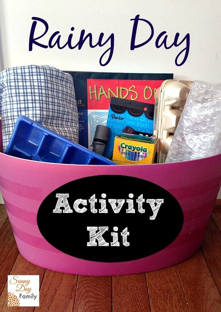 Make a rainy day activity kit filled with creative and inexpensive play prompts for kids. Keep kids entertained on rainy days or any day you need to stay inside. Grab this kit when you need to cook dinner and let the kids play! Easy to make from things you probably have at home already.