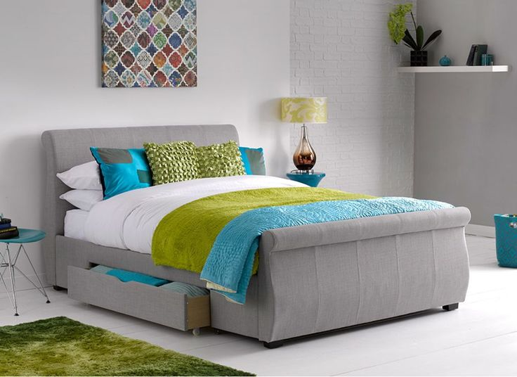 Lucia Grey Fabric Upholstered Bed Frame King £499