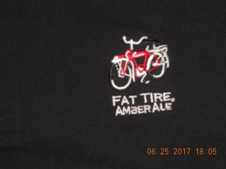 New Fat Tire Amber Ale Beer Golf Polo Pique Shirt Patagonia Regular Fit Black XL