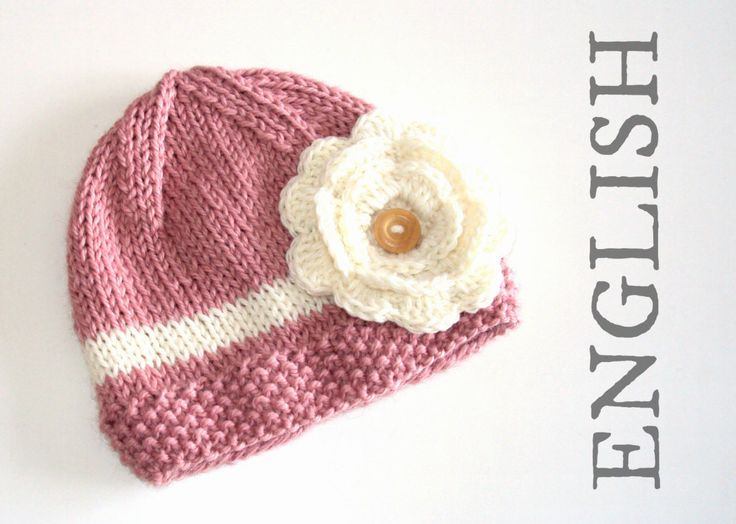 Girl hat Knitting PATTERN for babies and toddlers ...