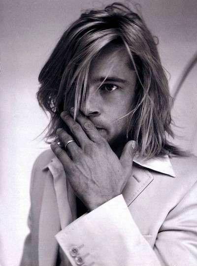 Brad Pitt: Hiding Behind Hair