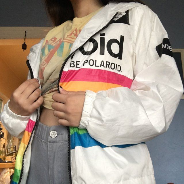 dd8c7a24d9389d REALLY DOPE POLAROID windbreaker FOREVER 21 but BRANDED BY POLAROID™ ITS SO  CUTE AND LITERALLY GOES WITH ANYTHING I WANT TO SELL IT BECAUSE I JUST  DON t ...