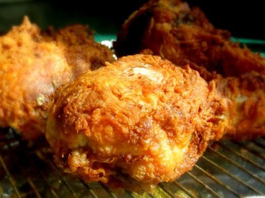 Kentucky-Style Fried Chicken (NOT KFC style) - I've never heard of steaming or poaching the chicken before battering and frying it.  I'm intrigued!