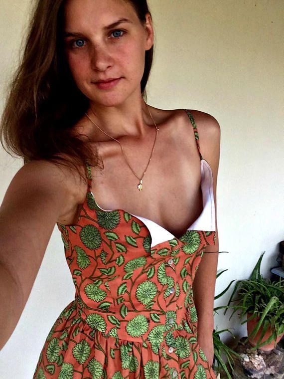 Eco-Friendly Cotton Dress  Bohomian women's wear  Block