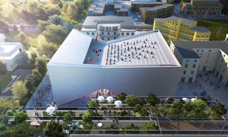 BIG postaví valbánské Tiraně divadlo stvarem motýlka ahledištěm nastřeše