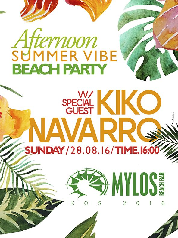 #Summer2016 Afternoon Party @Mylos Beach Bar