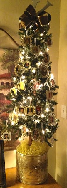 Tree of Photos... This could be a very cute idea, if done right...