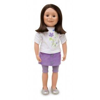 Maplelea Friend with shoulder-length medium brown hair, medium-light skin, brown eyes