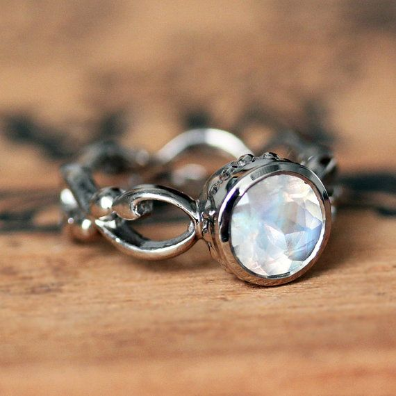 Hey, I found this really awesome Etsy listing at https://www.etsy.com/listing/251080756/rainbow-moonstone-engagement-ring-white