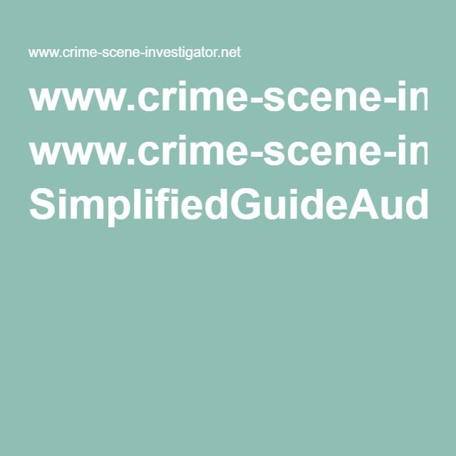 90 Best Crime Scene Investigator * Images On Pinterest | Crime