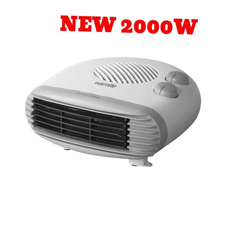 Electic Fan Heater Hot Blow Flow Forced Space Room Portable Small Efficient NEW