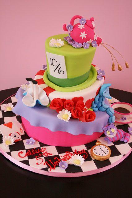 Alice In Wonderland Custom Birthday Cake Nj Kids