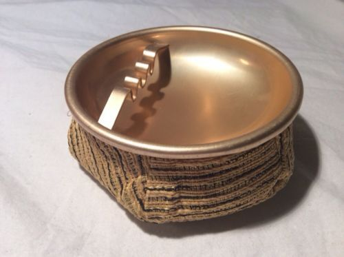 Vintage Mid Century Modern Gold  & Black Bean Bag Cigarette Ashtray.  We  used to play with these because of the bean bag bottoms!