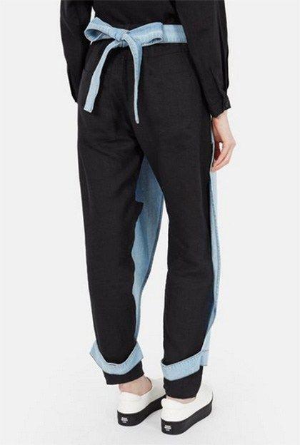 denim apron pants rear