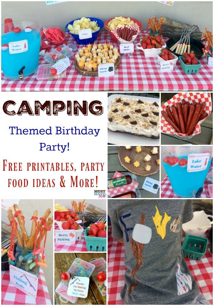 Camping Themed Birthday Party Ideas, Camping Party Food & Free ...