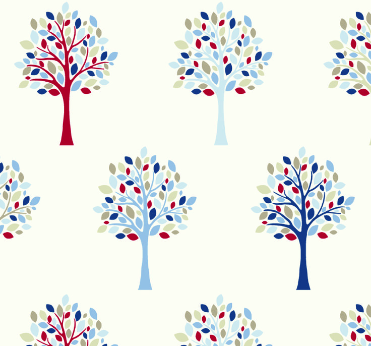 Fryett's Fabrics: Orchard Blue