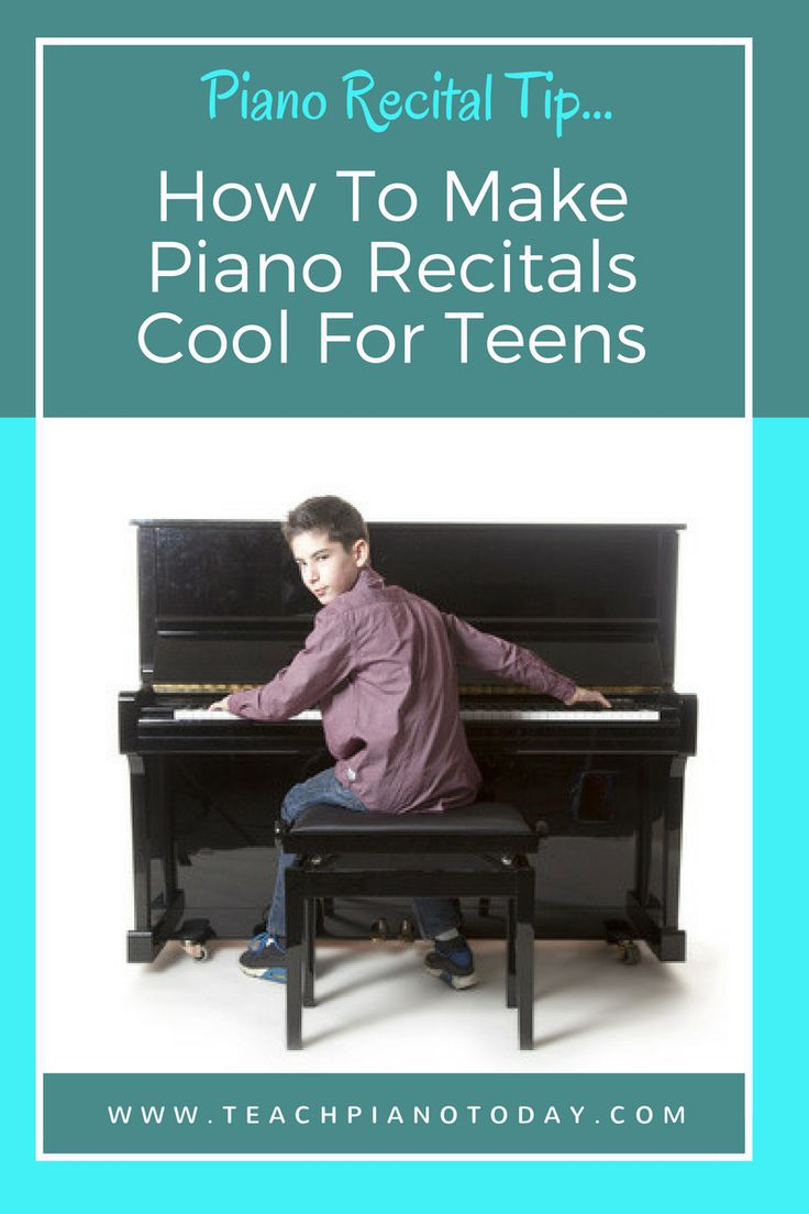 Keep your teens interested in piano recitals with these ideas