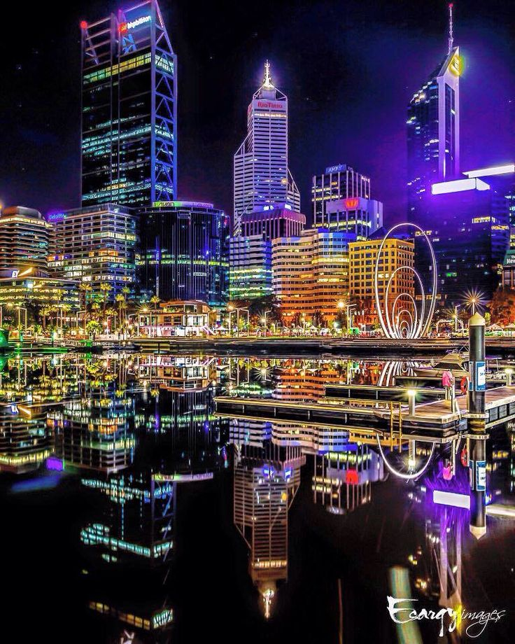 Perth, Australia at night
