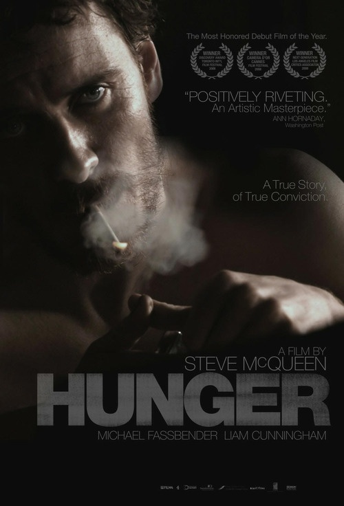 """Hunger - Steve McQueen 2008 - DVD06744 -- """"The final months of Bobby Sands, the Irish Republican Army activist who protested his treatment at the hands of British prison guards with a hunger strike, are chronicled in this historical drama."""""""