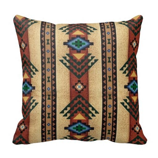 Native American Woven Print $T2eC16d - Pillow