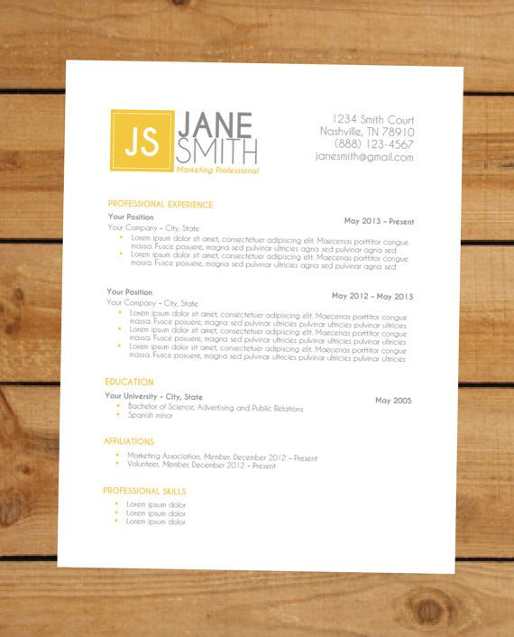 120 Best Images About Resumes On Pinterest