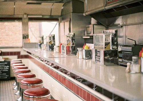 restaurant, vintage, and bar afbeelding