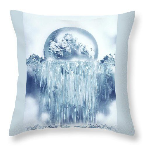 Printed with Fine Art spray painting image Ice Waterfall Nandor Molnar (When you visit the Shop, change the size, background color and image size as you wish)