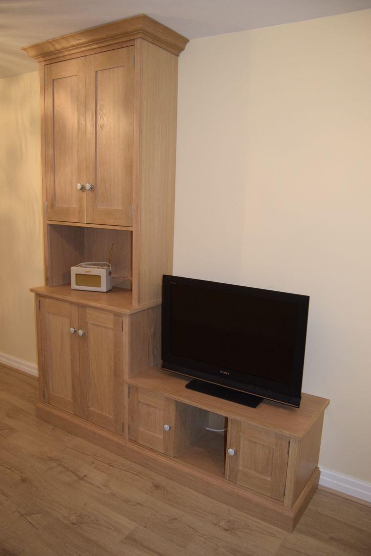 Oak Cabinet - T.V cabinet. Bespoke Furniture- Custom Cabinet Maker. Gill Martinez -Manchester, England.