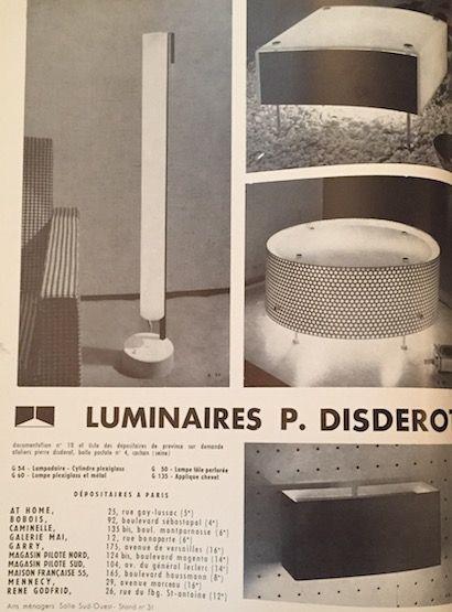Paire d'appliques en métal laqué blanc - Pierre Paulin, Edition Disderot - France, c. 1960
