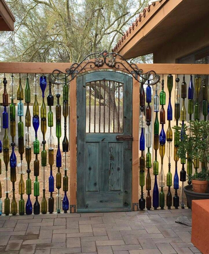 Definitely an interesting and creative way to recycle bottles...