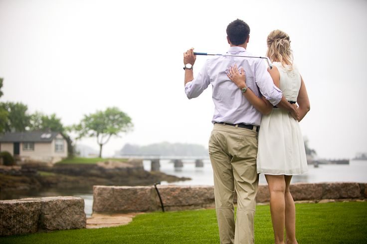 Love the golfing engagement pics!!