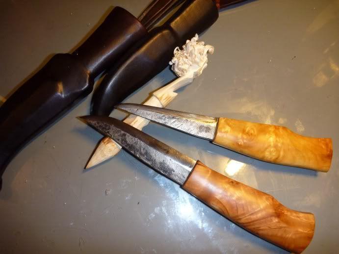 Bush n' Blade (ブッシュクラフトと刃物鍛冶): 初打ちナイフ完成 – First knife of this year