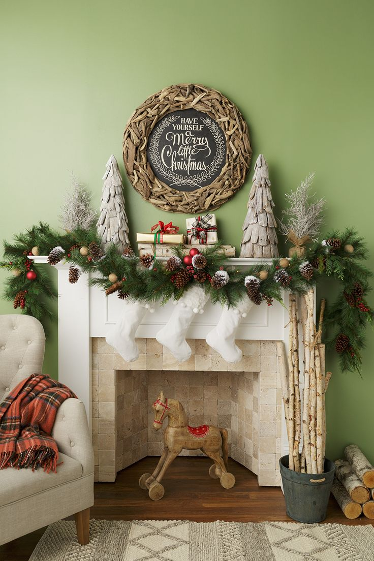 576 best christmas fireplaces mantles images on pinterest