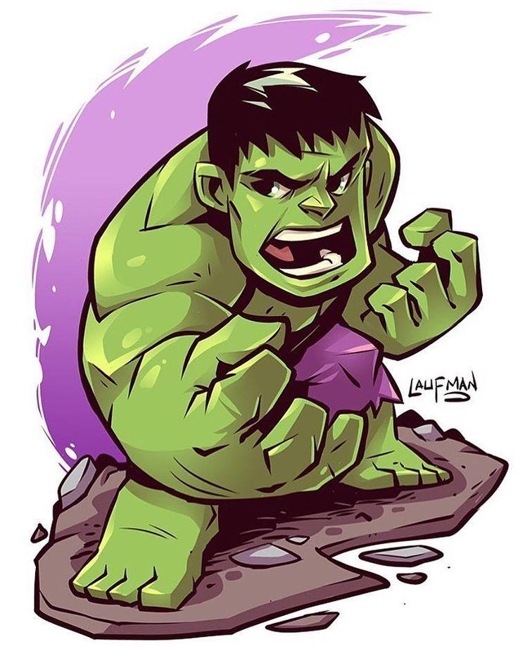 Chibi Hulk #hulk #marvel #avengers #ageofultron #planethulk #brucebanner #chibi #fanart #clipstudiopaint #mangastudio #dereklaufman