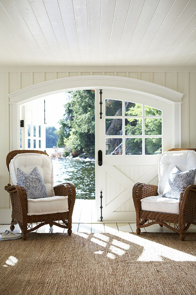 In love with the doors!!! Beautiful French style yet barn like doors!!! :) for the sunroom!