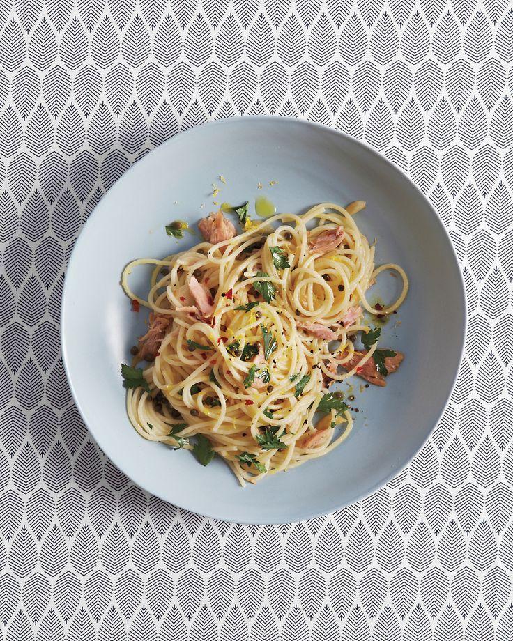 Spaghetti with Tuna and Caper Sauce Recipe | Martha Stewart
