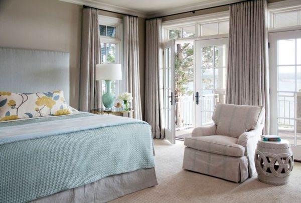 gardinen für balkontür hellgraues elegantes design